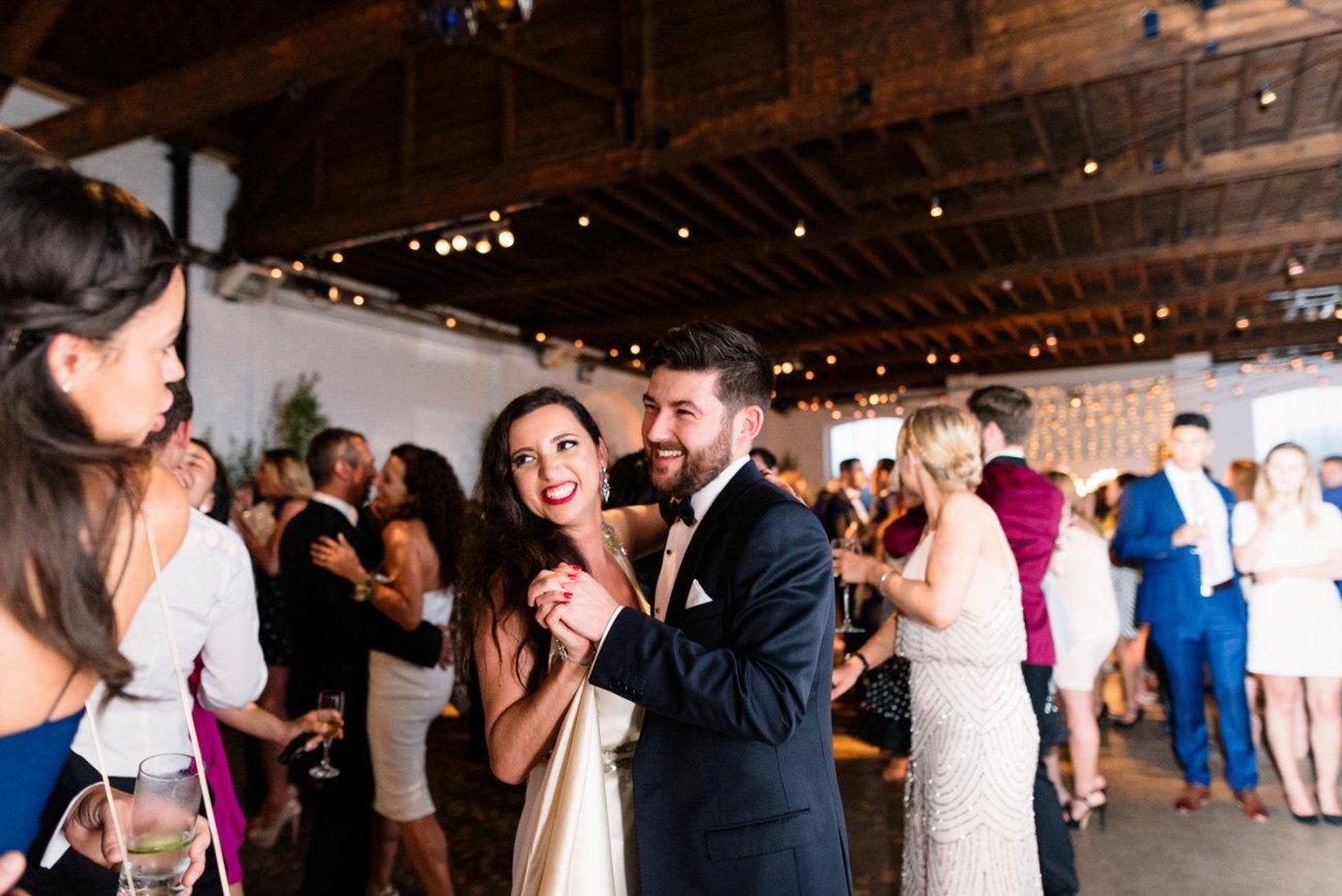 Glamorous London warehouse wedding