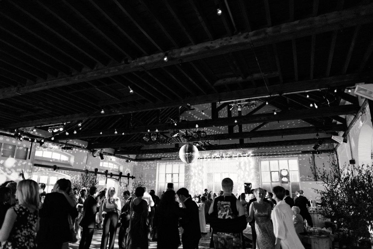 Glam warehouse wedding party