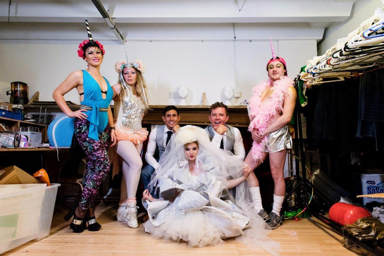 Alternative same sex gay wedding Hackney London