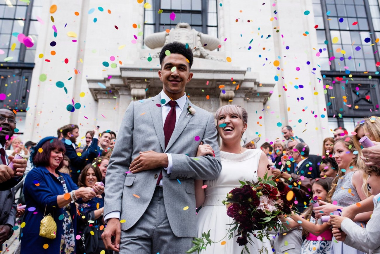 Alternative wedding photographer colourful quirky wedding