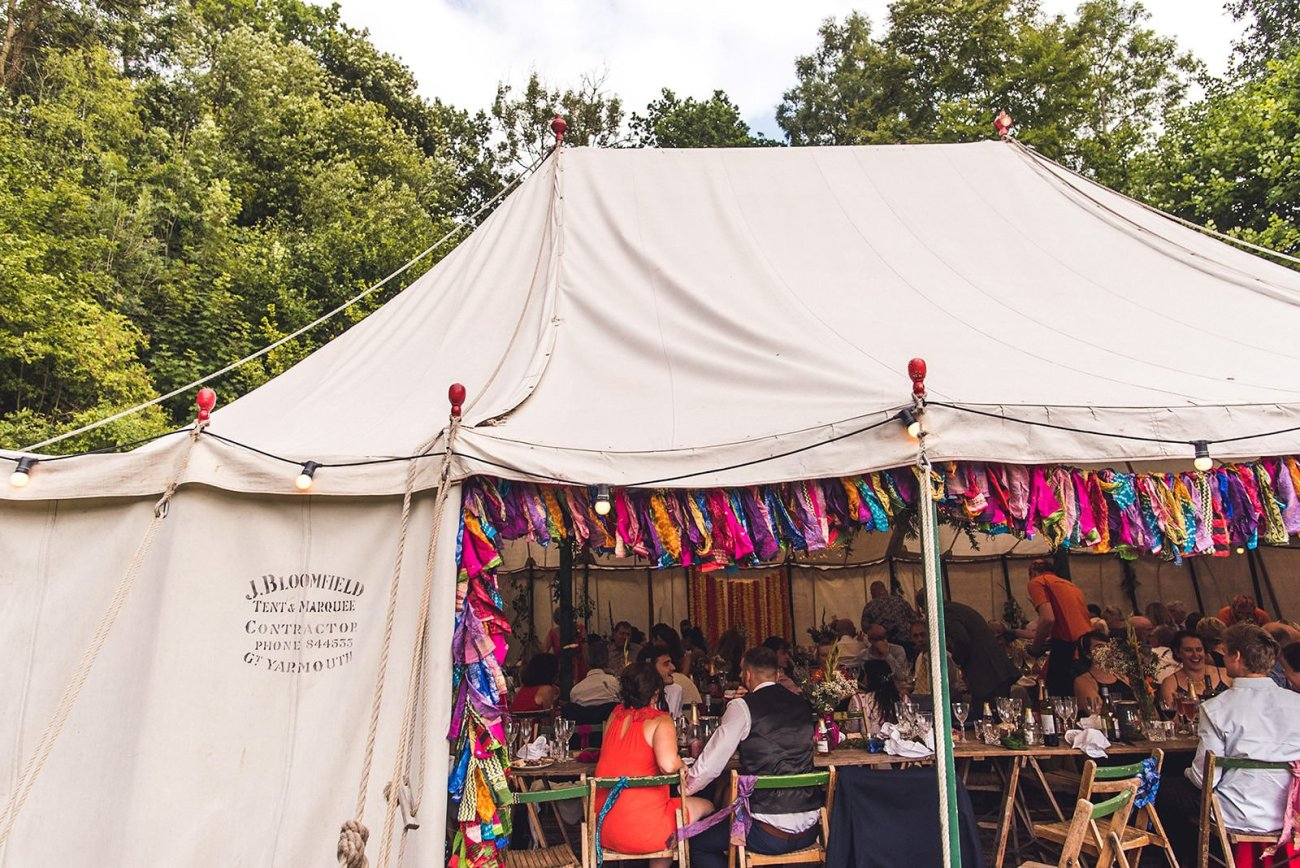 traditional pole marquee keeper and the dell wedding norfolk