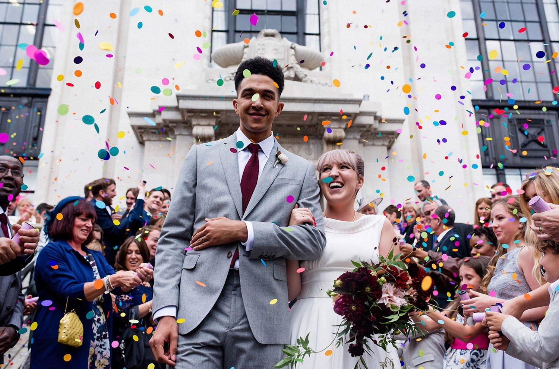 Creative wedding photo of a couple in Birmingham