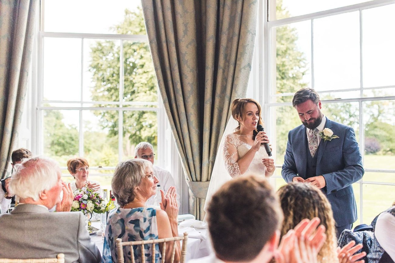 Homme House Wedding Photography bride speech