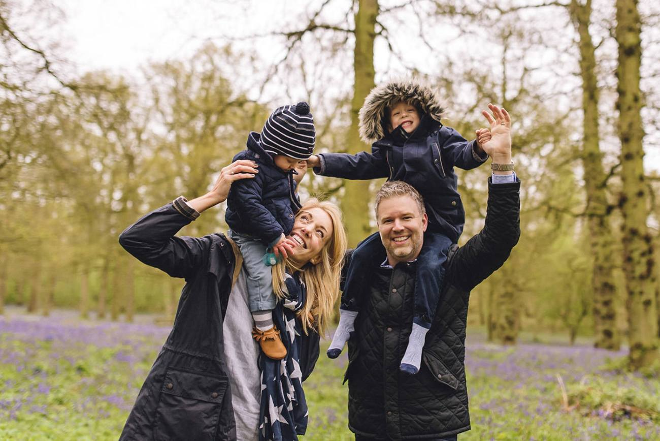 Bluebell wood family photography in Birmingham