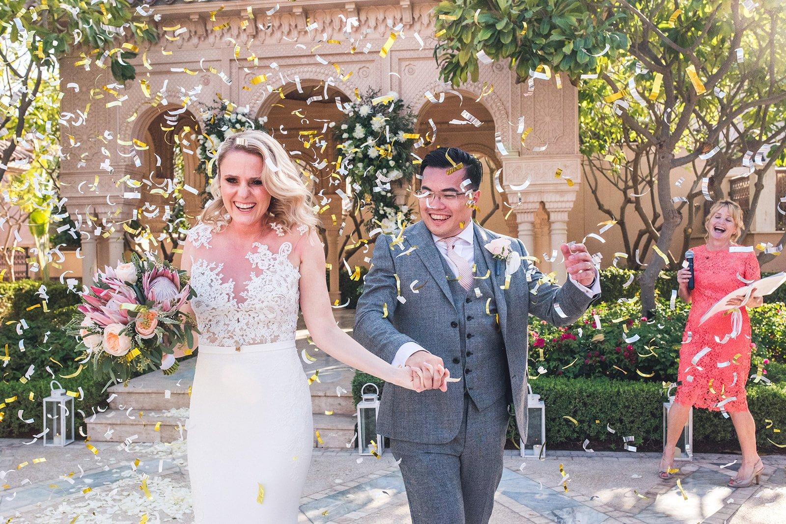 Wedding couple shower confetti