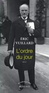 """Résultat de recherche d'images pour """"L'ordre du jour de Eric Vuillard"""""""