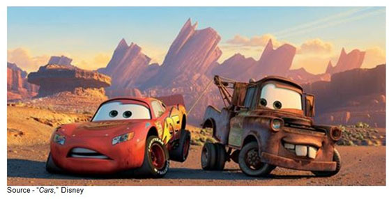 """That driving backwards. It's creeping me out. You're gonna wreck or something."" – Lightning McQueen, ""Cars,"" Disney, 2006"