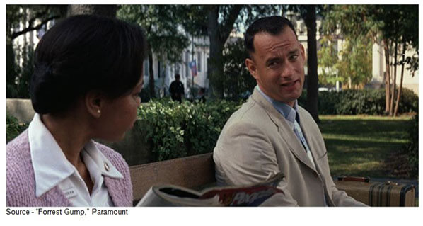 """""Lieutenant Dan got me invested in some kind of fruit company [Apple computer]. So then I got a call from him, saying we don't have to worry about money no more. And I said, that's good! One less thing."" –Forrest, ""Forrest Gump,"" Paramount, 1994"