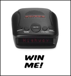 Enter to win a K40 Electronics Radar/Laser Detector