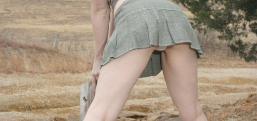 SarahTime Outdoors in Boots and panties 4