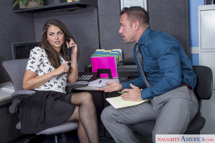 Naughty America Allie Haze & Johnny Castle in Naughty Office 1