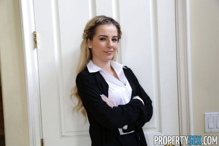 Property Sex Petite Real Estate Agent Bella Rose Wants to Impress Her Client