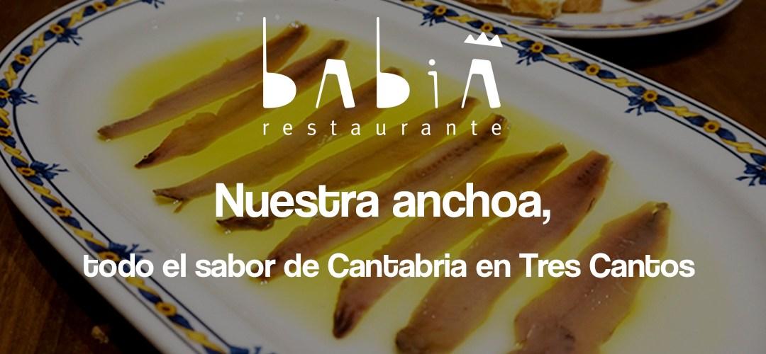 La anchoa de Restaurante Babia, todo el sabor de Cantabria en Tres Cantos