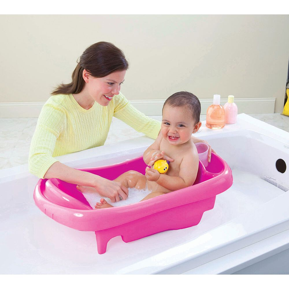 baignoire du nouveau ne au tout petit de luxe sure comfort rose