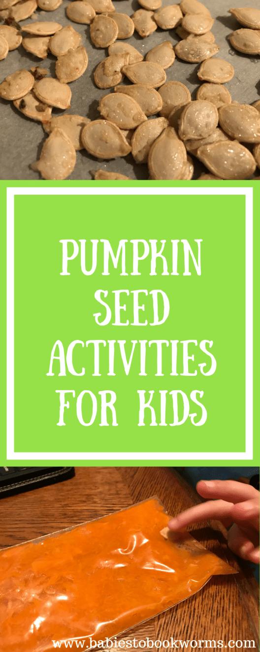 Counting Pumpkin Seeds Pumpkin Activities Babies To