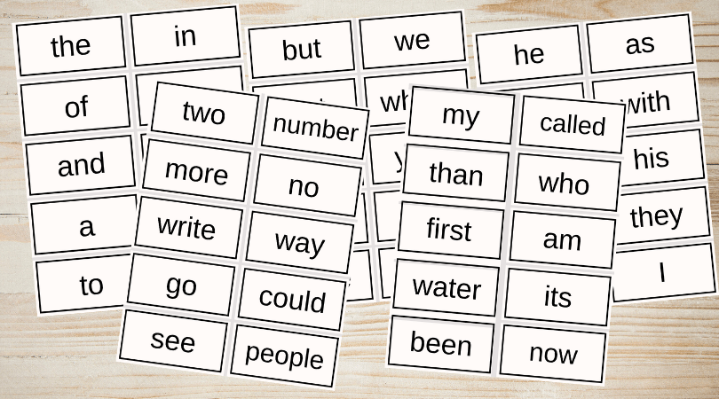 It's just a photo of Sight Word Flashcards Printable with montessori