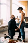 The Wedding Party Couple,Banky W & Adesua Etomi Are Engaged For Real!