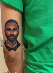 Jhene Aiko Tattoos Big Sean's Face On Her Arm