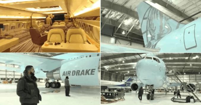 Check Out Drake's New Private Jet,Air Drake