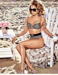 Jennifer Lopez in leopard print bikini for Guess campaign