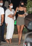 Hailey Bieber and Kendall Jenner spotted on a dinner date