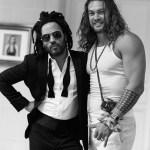Jason Momoa and Lenny Kravitz