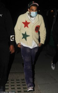 Chris Brown spotted leaving Adele's home at 2AM