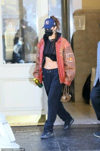 Ab-tastic! Bella Hadid flaunts tight abs in New York