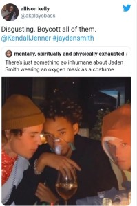 Jaden Smith piss people off with his costume at Kendall Jenner's birthday