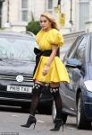 Rita Ora in cute yellow outfit