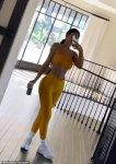 Kylie Jenner breaks a sweat looking cute in yellow