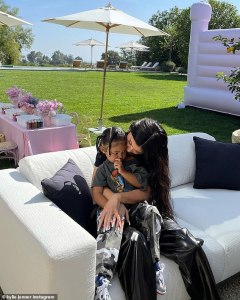 Kylie Jenner and Stormi