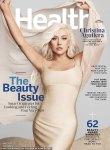 Christina Aguilera on the cover of Health magazine