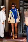 Gabrielle Union shows off pins in cute mini dress