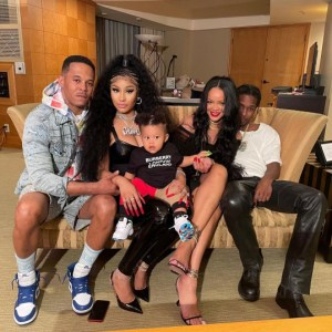 Nick Minaj,Rihanna and A$AP Rocky