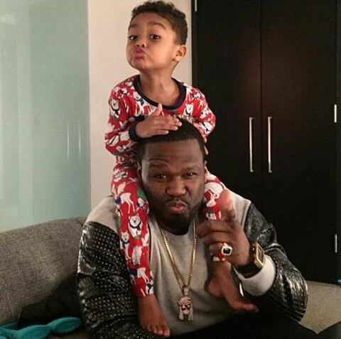 50 Cent & Son In Cute Photo