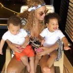 Beyonce share photo of the twins,Sir and Rumi Carter