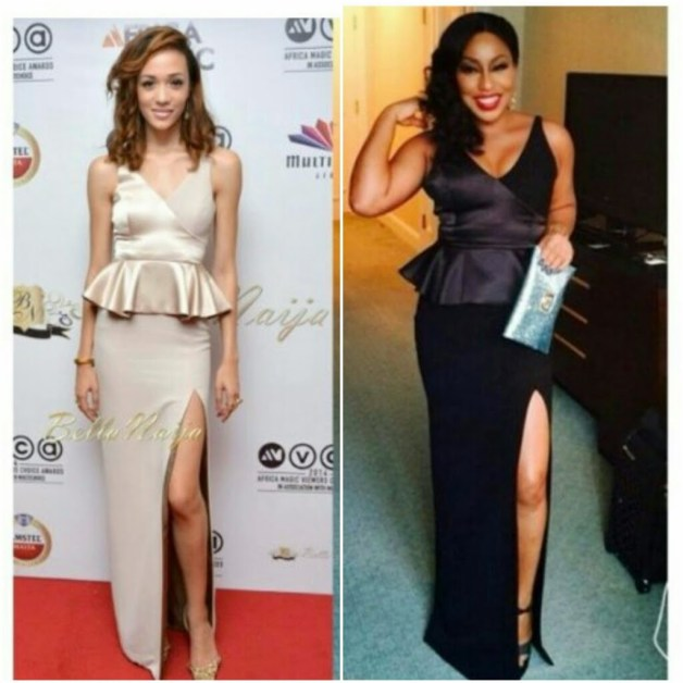 Who Wore The Slit Dress Better? Eku Edewor VS Rita Dominic