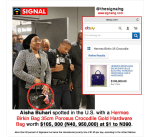 Nigeria's First Lady,Aisha Buhari Spotted With 40Million Naira Hermes Bag