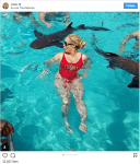 Coco Austin and Daughter Chanel Swim with Sharks
