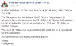 NYSC Batch A Orientation Course Postponed