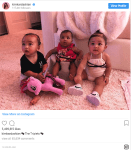 Kim Kardashian share photo of 'The Triplets'