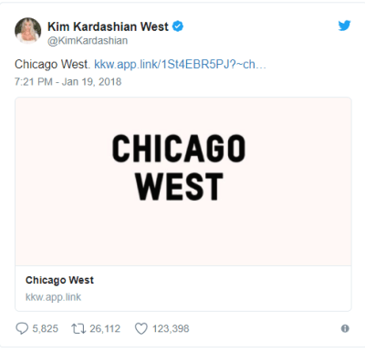 Kim And Kanye Name Their baby Chicago West