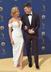 Scarlett Johansson wows in white at the 2018 Emmys