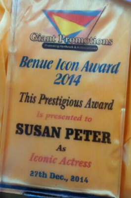 Susan Peters Wins Iconic Award In Benue State