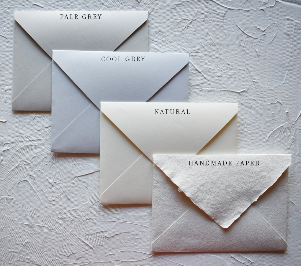 Wedding Collection Envelope Colours