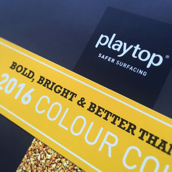 Baboon Creative - Logo design and Colour Chart design for Playtop Safer Surfacing