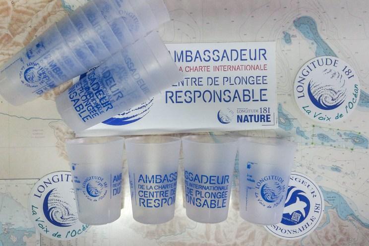 """Des """"Ecocup"""" Longitude 181 Nature pour Babou Côté Océan à Hienghène"""