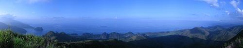 Panorama au relais TDF au dessus du village de Hienghène