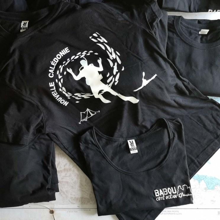 Les tee-shirts de Babou Côté Océan à Hienghène   Nouvelle Calédonie